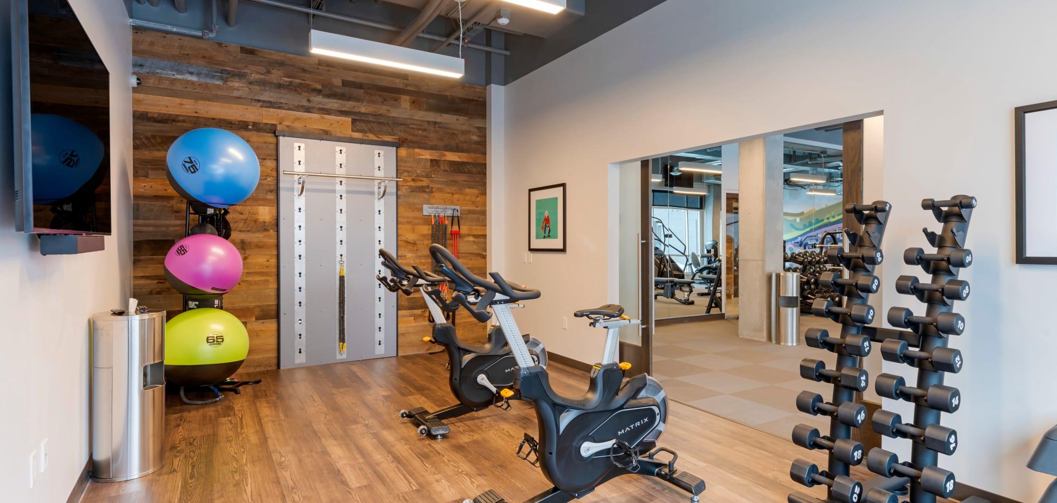 Fitness center of HERE Minneapolis in Minneapolis, Minnesota