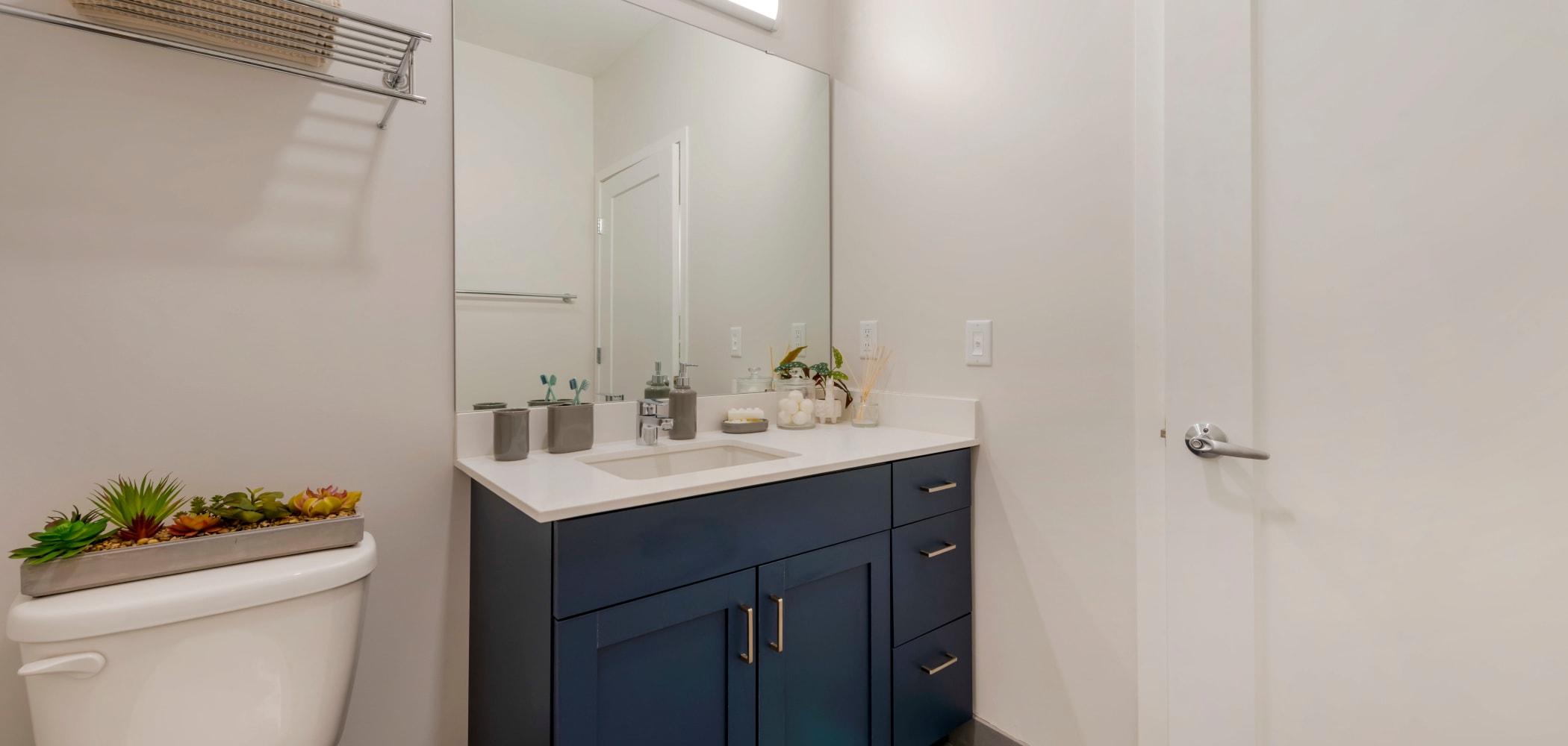Bathroom at HERE Minneapolis in Minneapolis, Minnesota