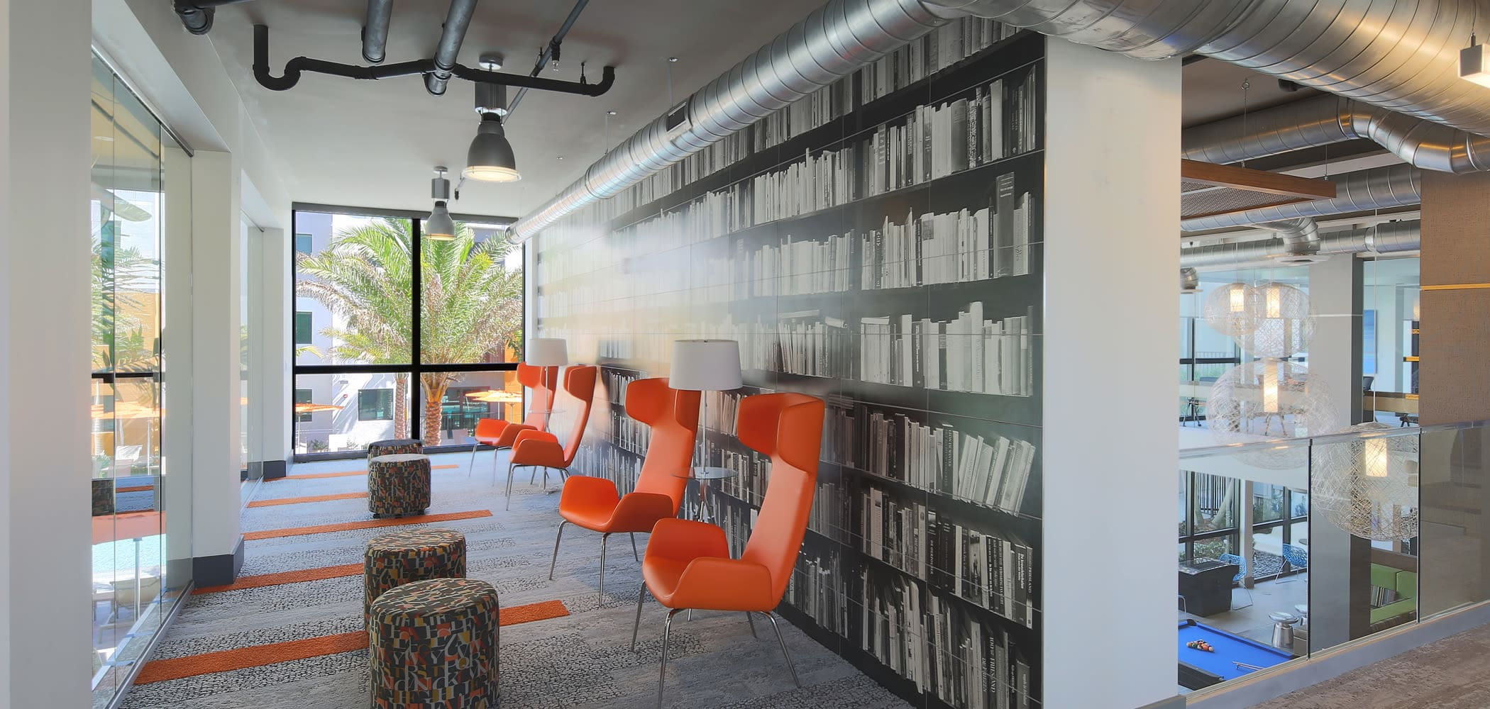 Study and lounge area at University Park in Boca Raton, Florida