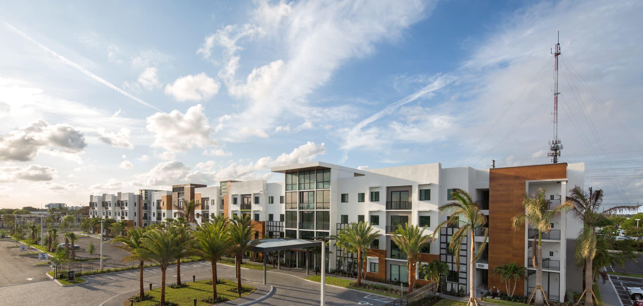 Exterior aerial view of University Park in Boca Raton, Florida