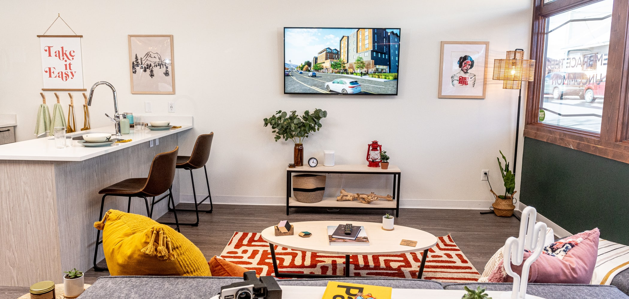 Modern Living Room at UNCOMMON Flagstaff in Flagstaff, Arizona