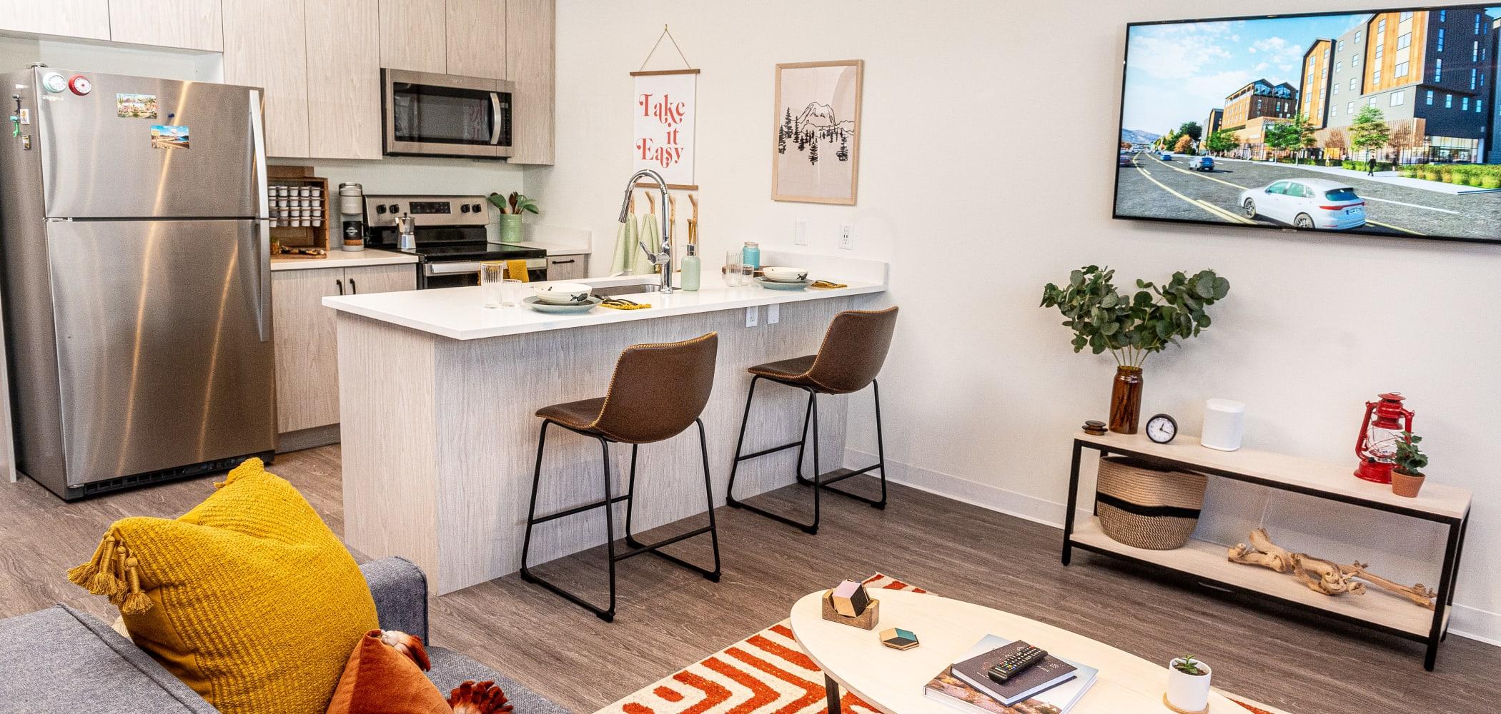 Modern Kitchen at UNCOMMON Flagstaff in Flagstaff, Arizona