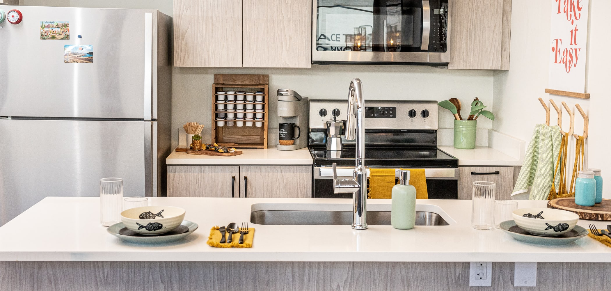 Modern Kitchen at UNCOMMON Flagstaff in Flagstaff, AZ