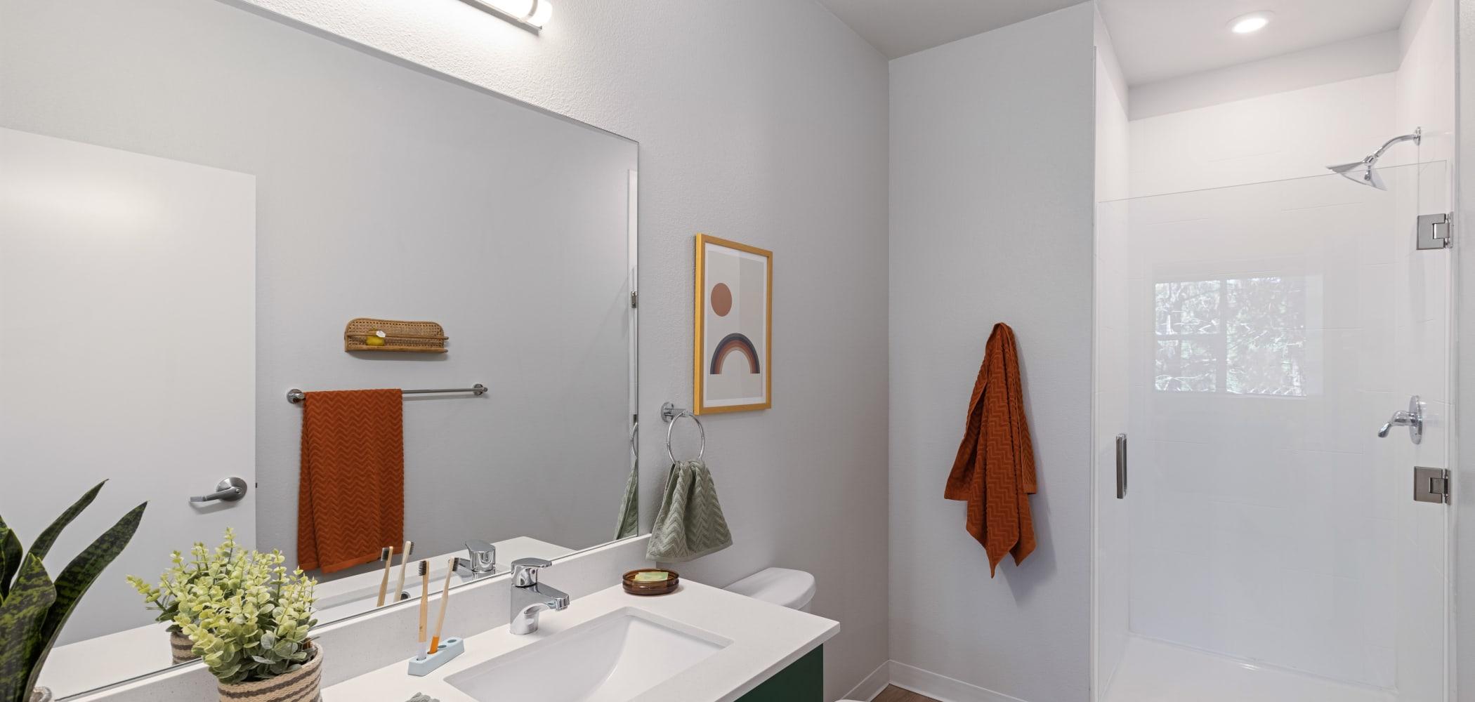 Clean bathroom at UNCOMMON Reno in Reno, Nevada
