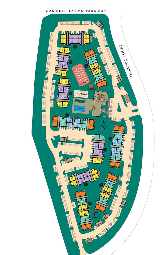 Site map of Villas at Oakwell Farms in San Antonio, TX
