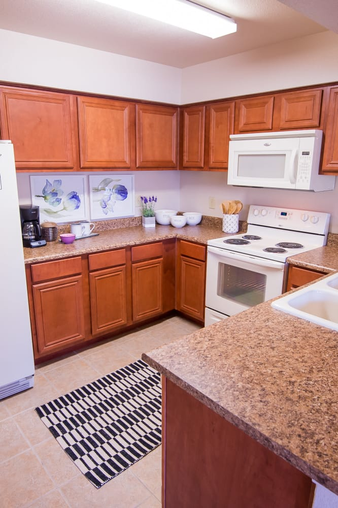 Bright kitchen at Villas at Aspen Park in Broken Arrow, Oklahoma