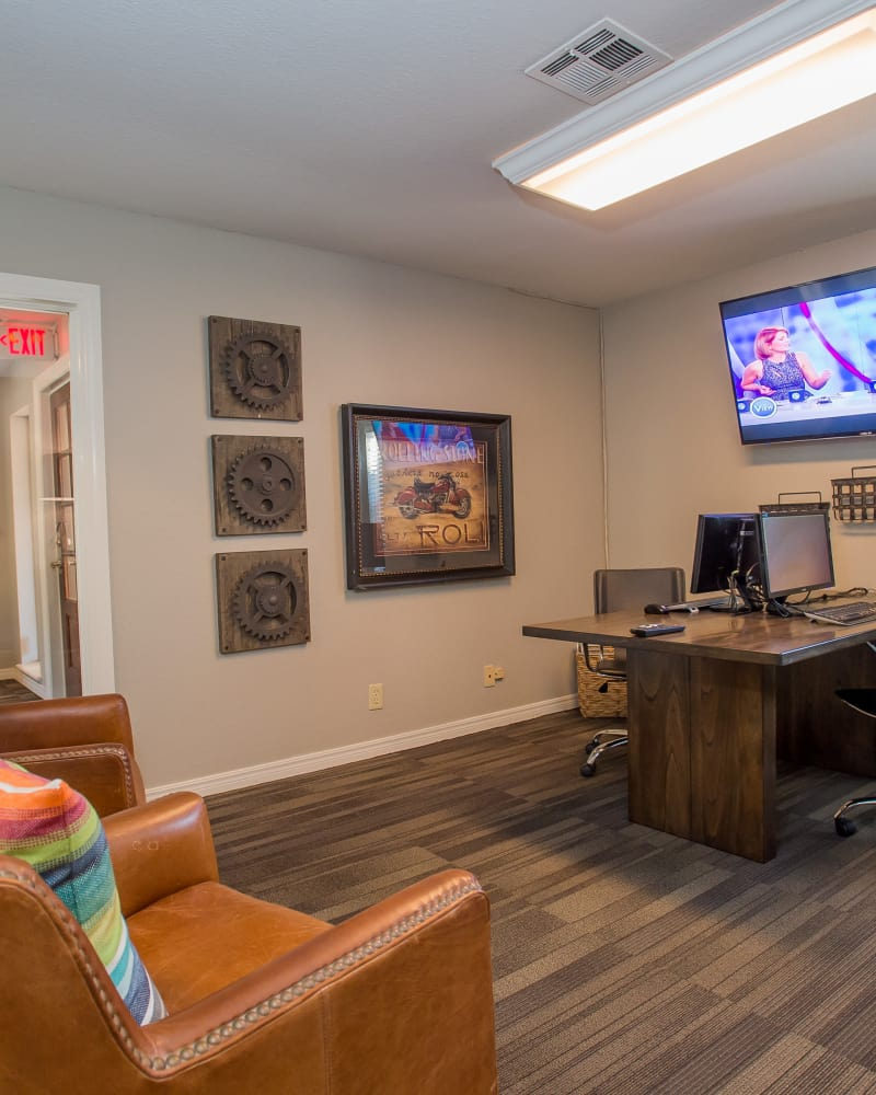 Computer room for residents at Barrington Apartments in Tulsa, Oklahoma