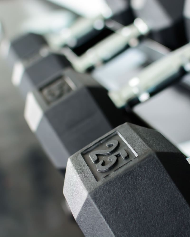 Free weights at The Courtyards in Tulsa, Oklahoma