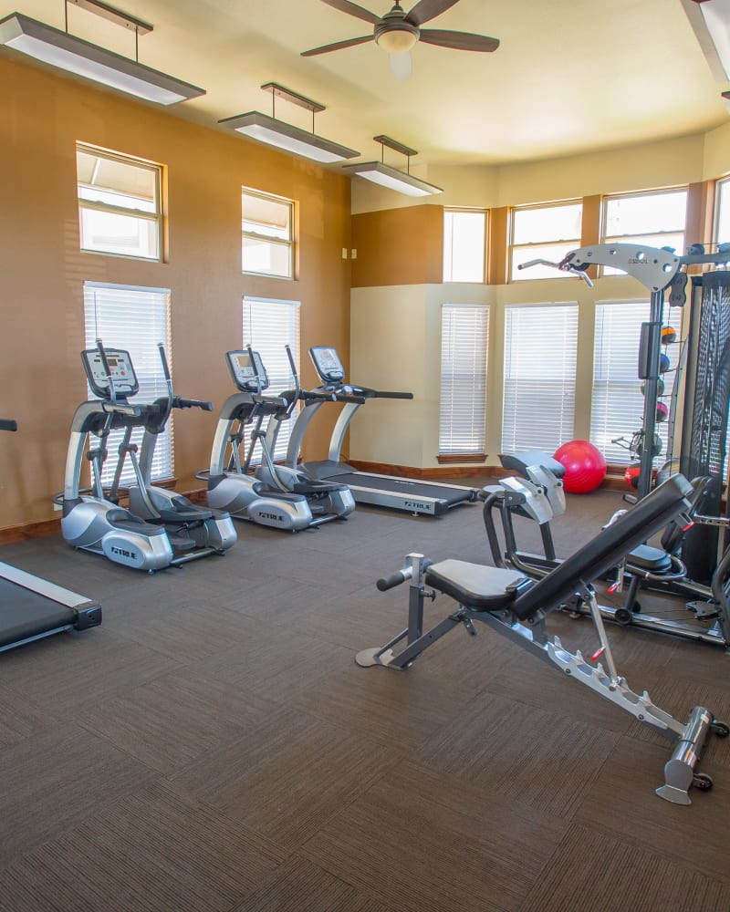 Fitness center at The Reserve at Elm in Jenks, Oklahoma