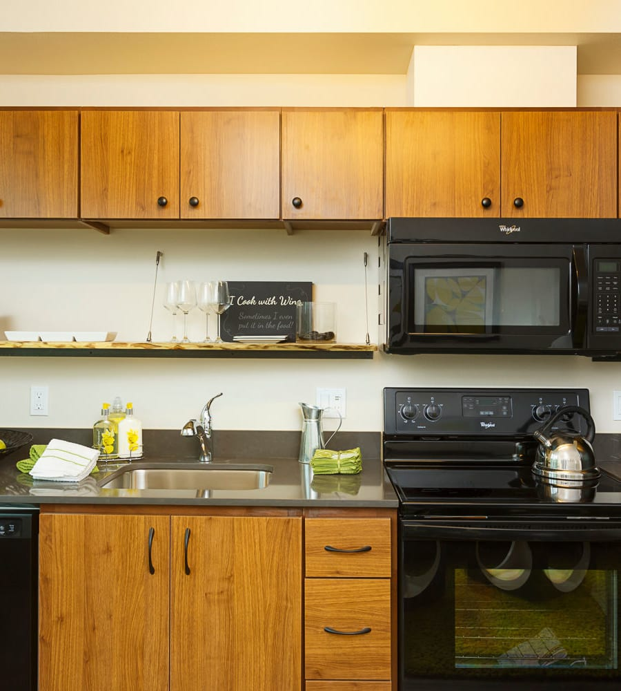 Bright kitchen at Marvel 29 in Portland, Oregon