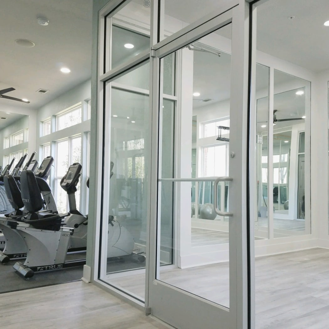 Onsite fitness center at Ingleside Plantation Apartments in North Charleston, South Carolina