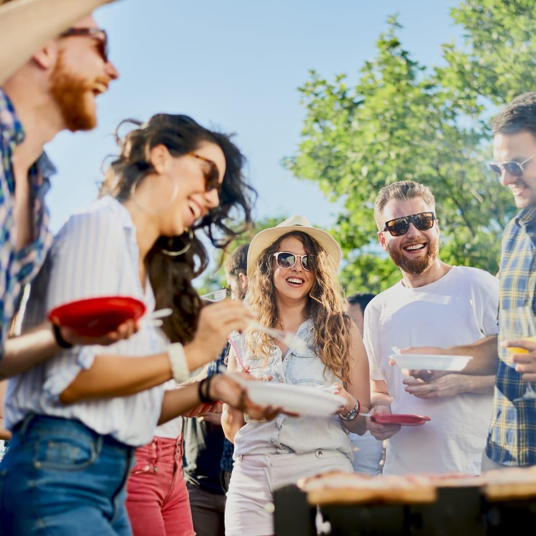 Friends enjoying brunch at Avilla Enclave in Mesa, Arizona