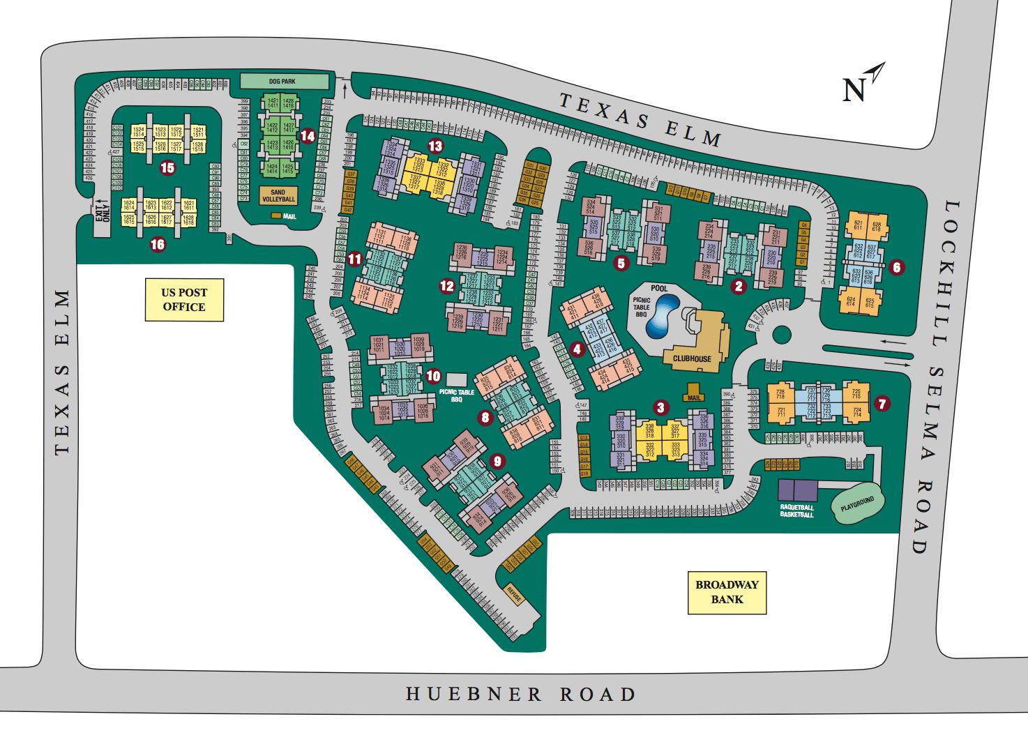 Site map of The Lodge at Shavano Park in San Antonio, TX