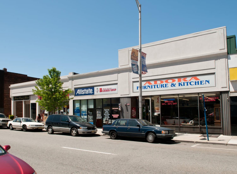 199-205 buildings on Main street in Hackensack, New Jersey