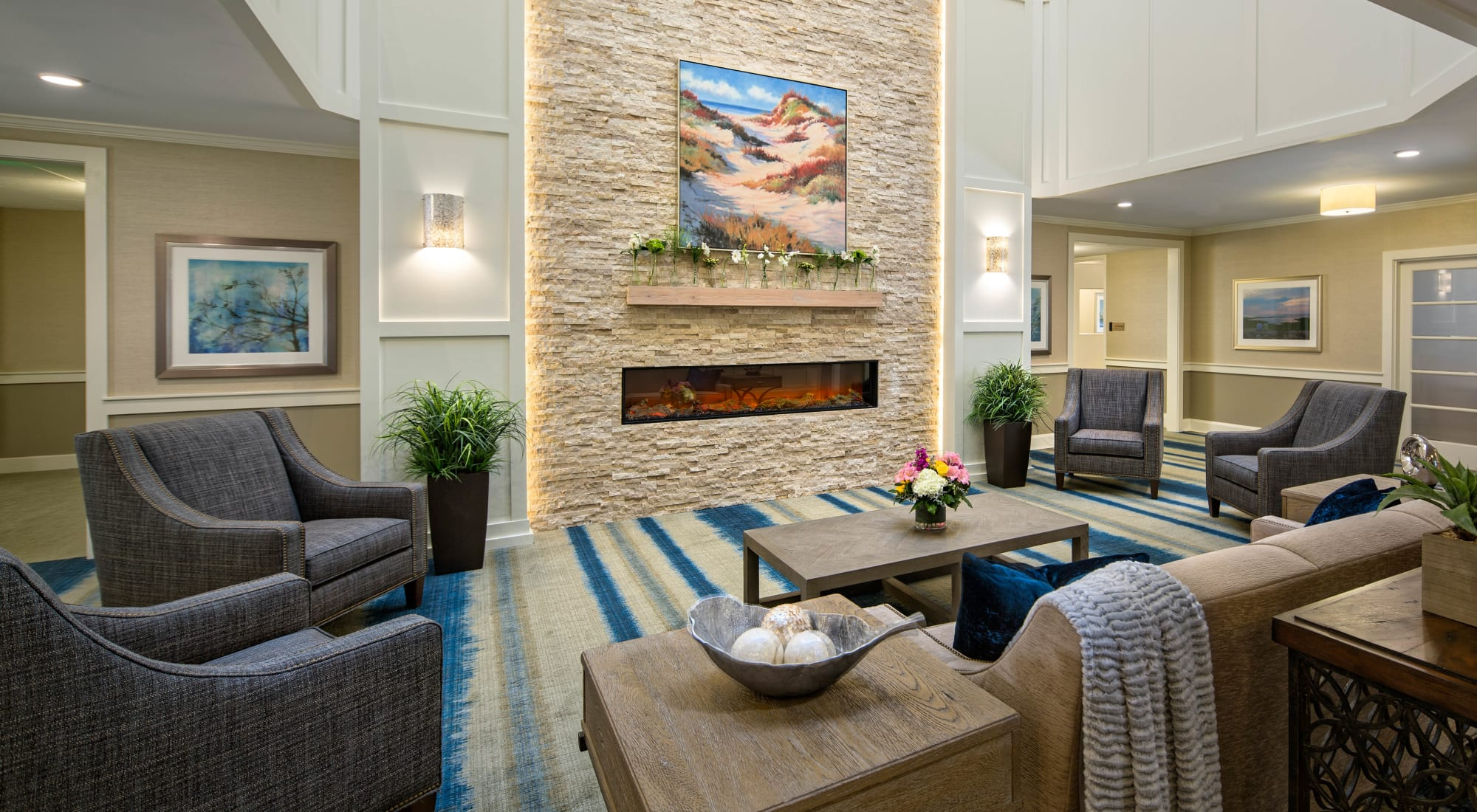 Lobby at Maplewood at Mayflower Place in West Yarmouth, Massachusetts