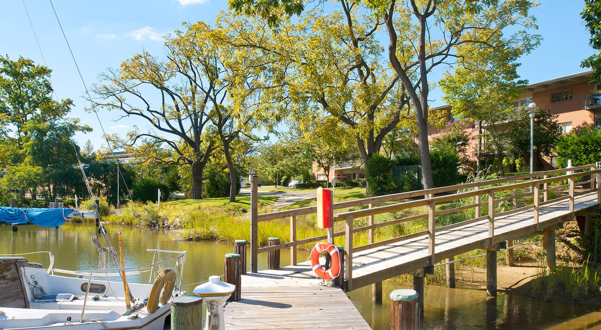 Dock on Back Creek at Watergate Pointe in Annapolis, Maryland