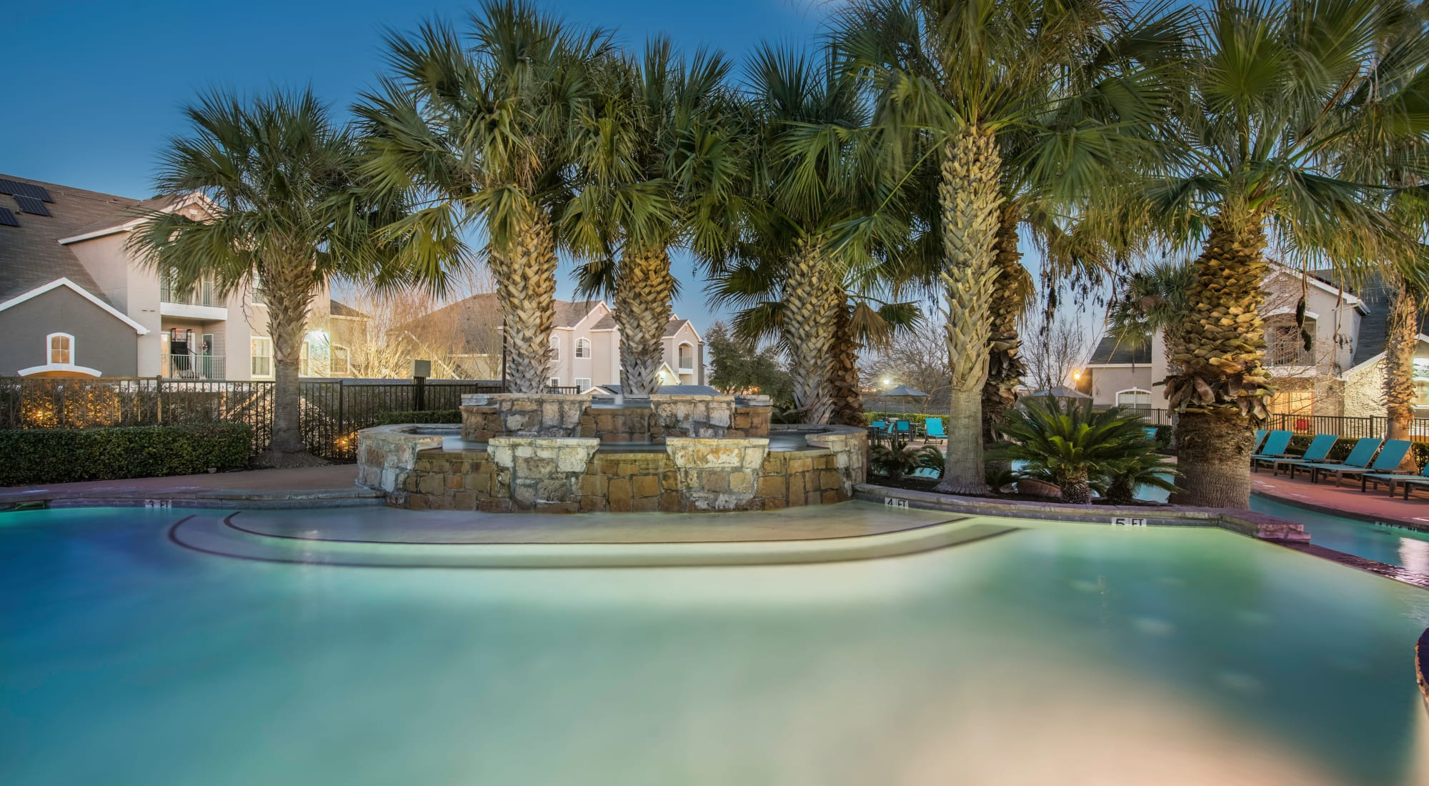 Resort style pool at dask at Sage at 1825 Apartments in Pflugerville, Texas