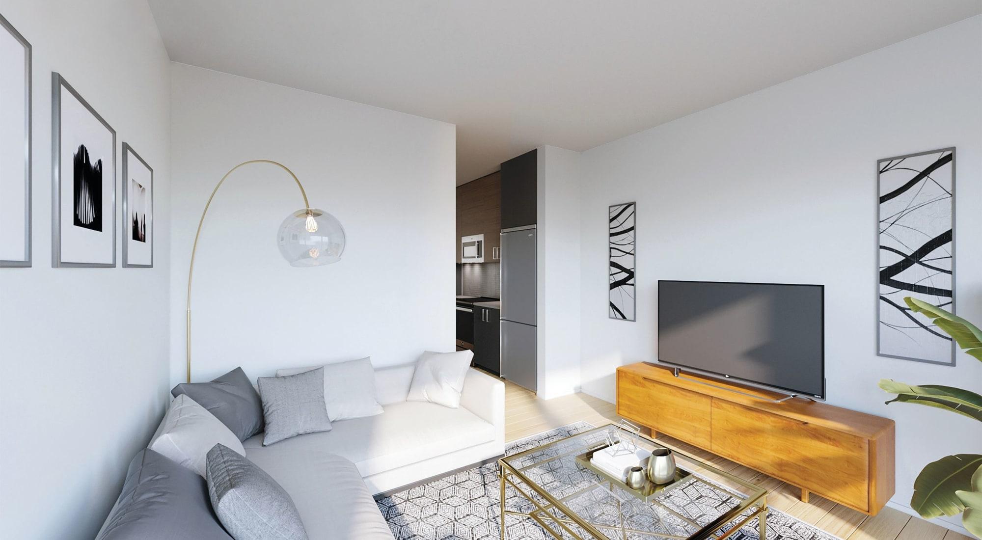 Living room at Blackbird in Redmond, WA