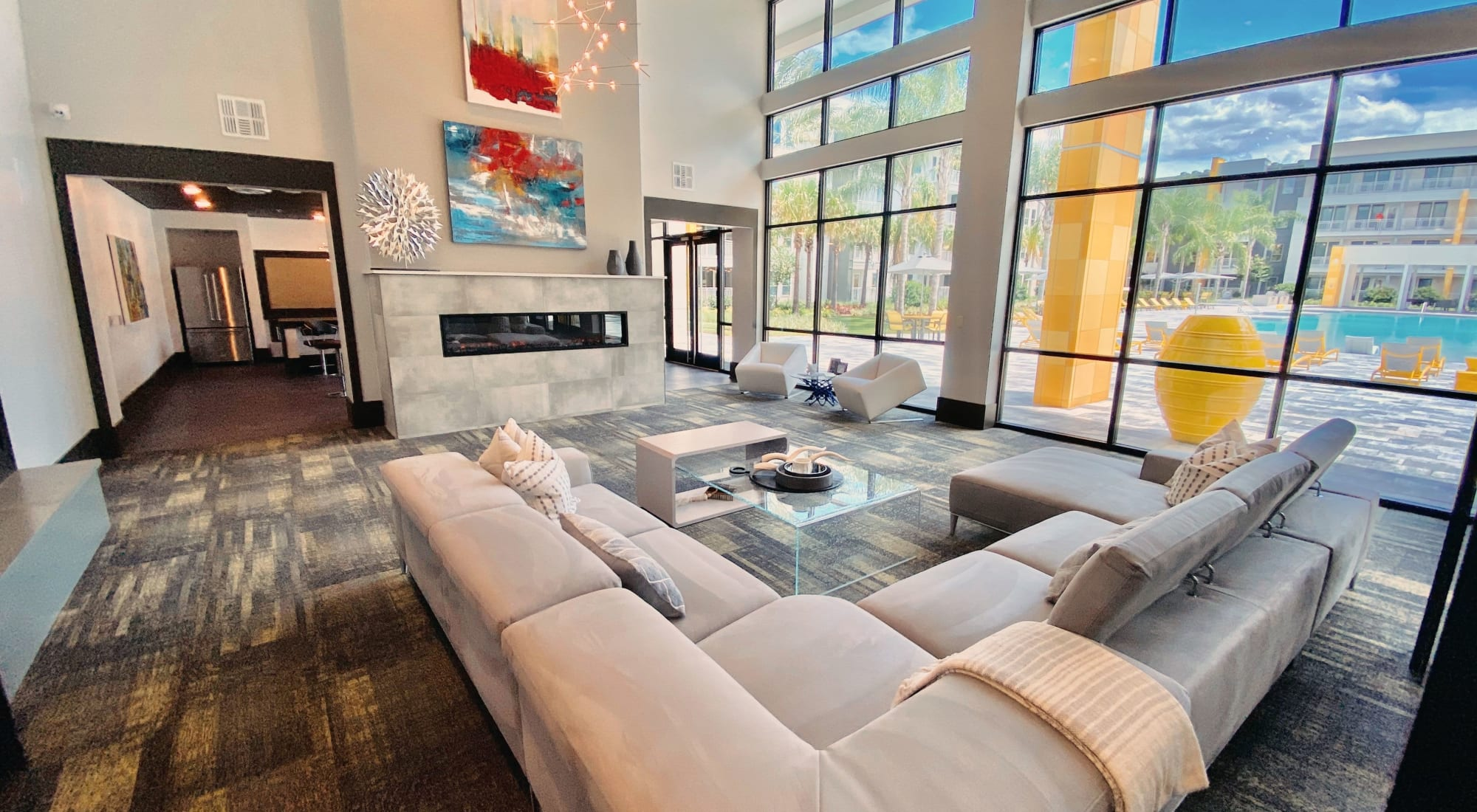 Luxury Clubhouse at Fusion apartments in Jacksonville, Florida