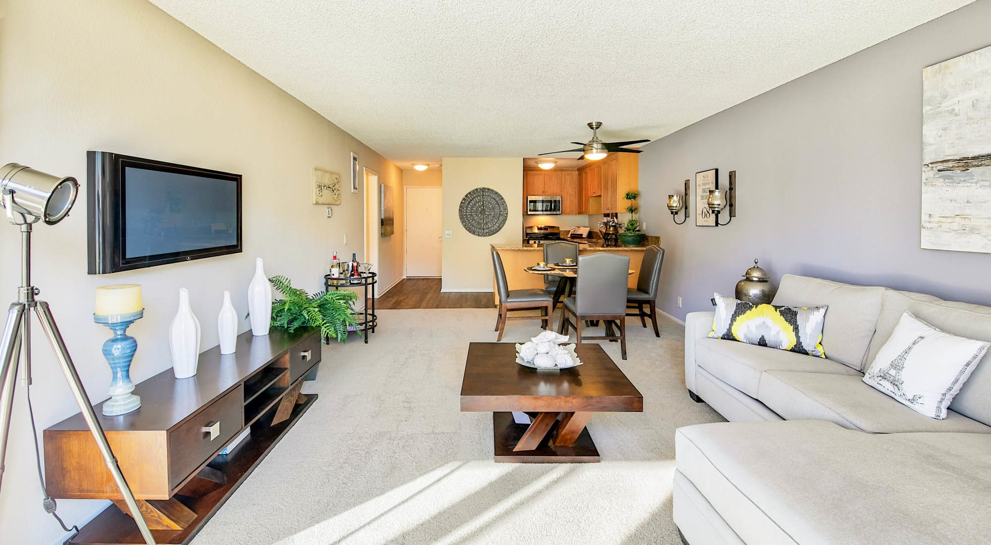 Spacious and well-furnished open-concept model home at Waters Edge at Marina Harbor in Marina Del Rey, California