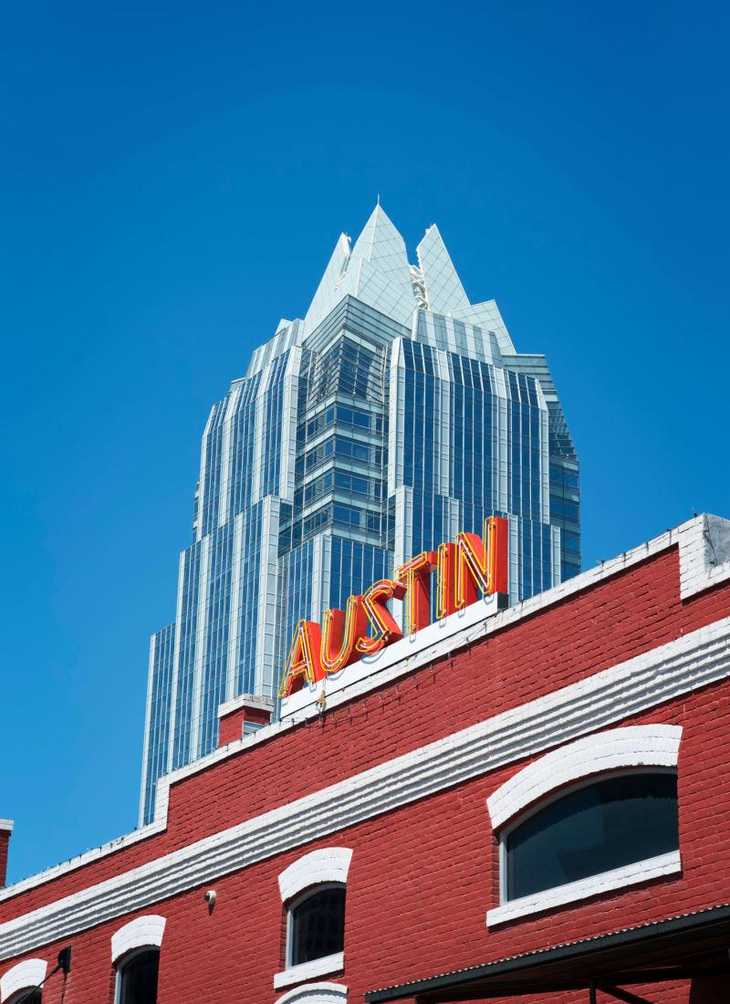 Views of Austin, Texas from Marquis SoCo