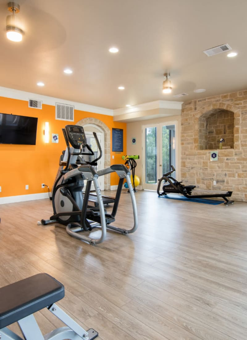 Fitness center at Marquis at Treetops in Austin, Texas