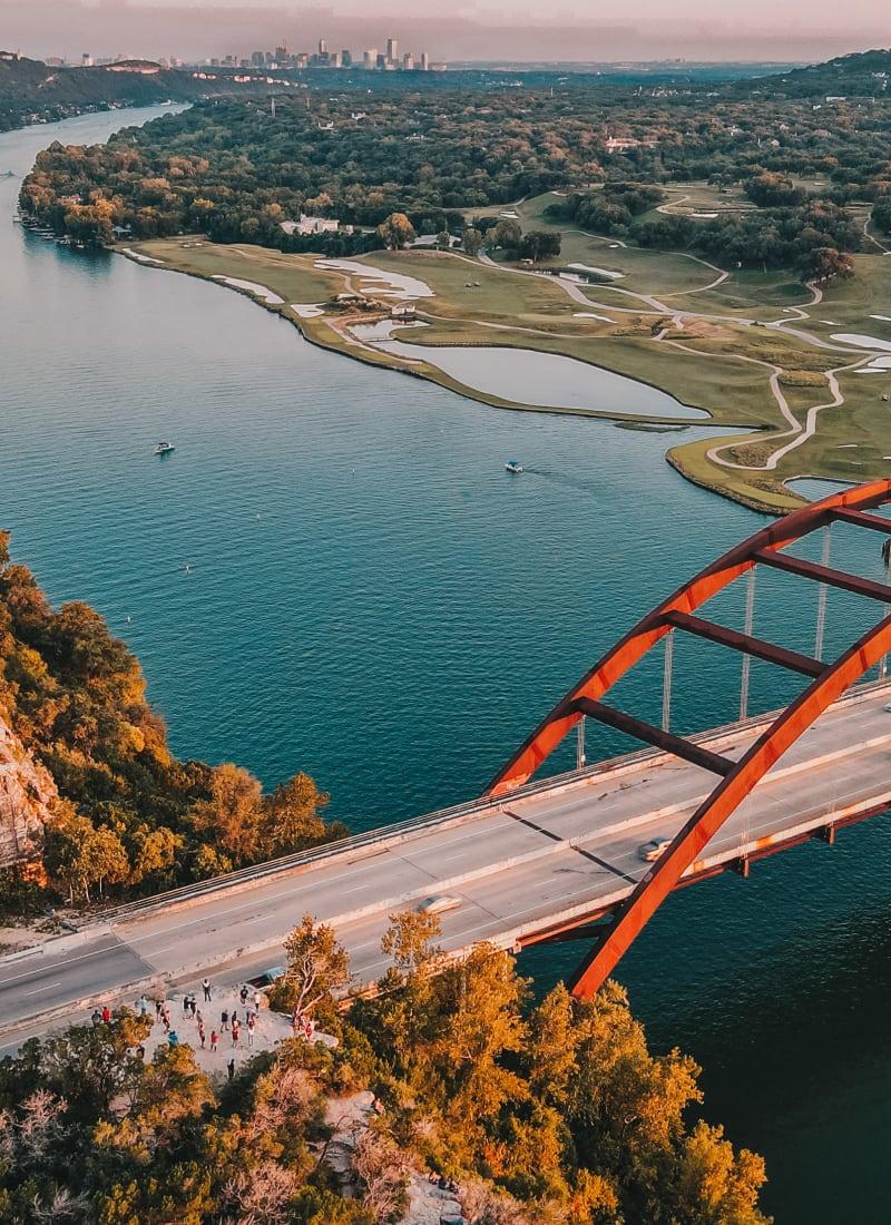 Bridge near Marquis at Barton Trails in Austin, Texas