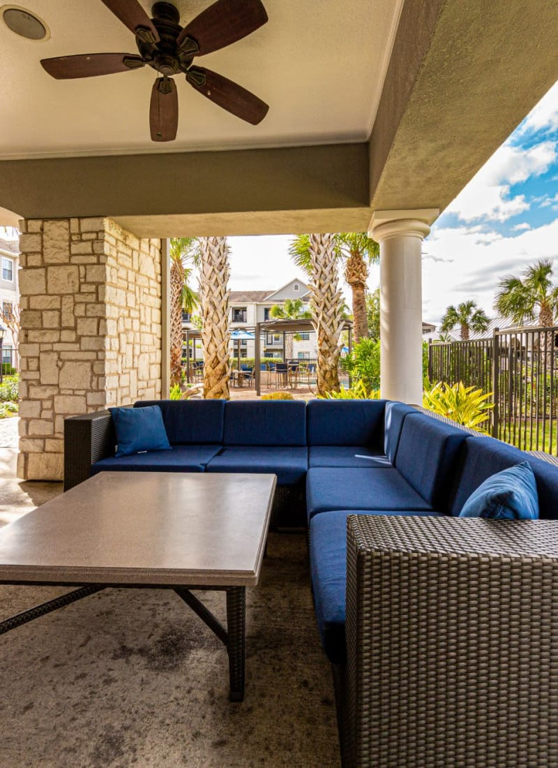 Out lounge area at Marquis Grand Lakes in Richmond, Texas