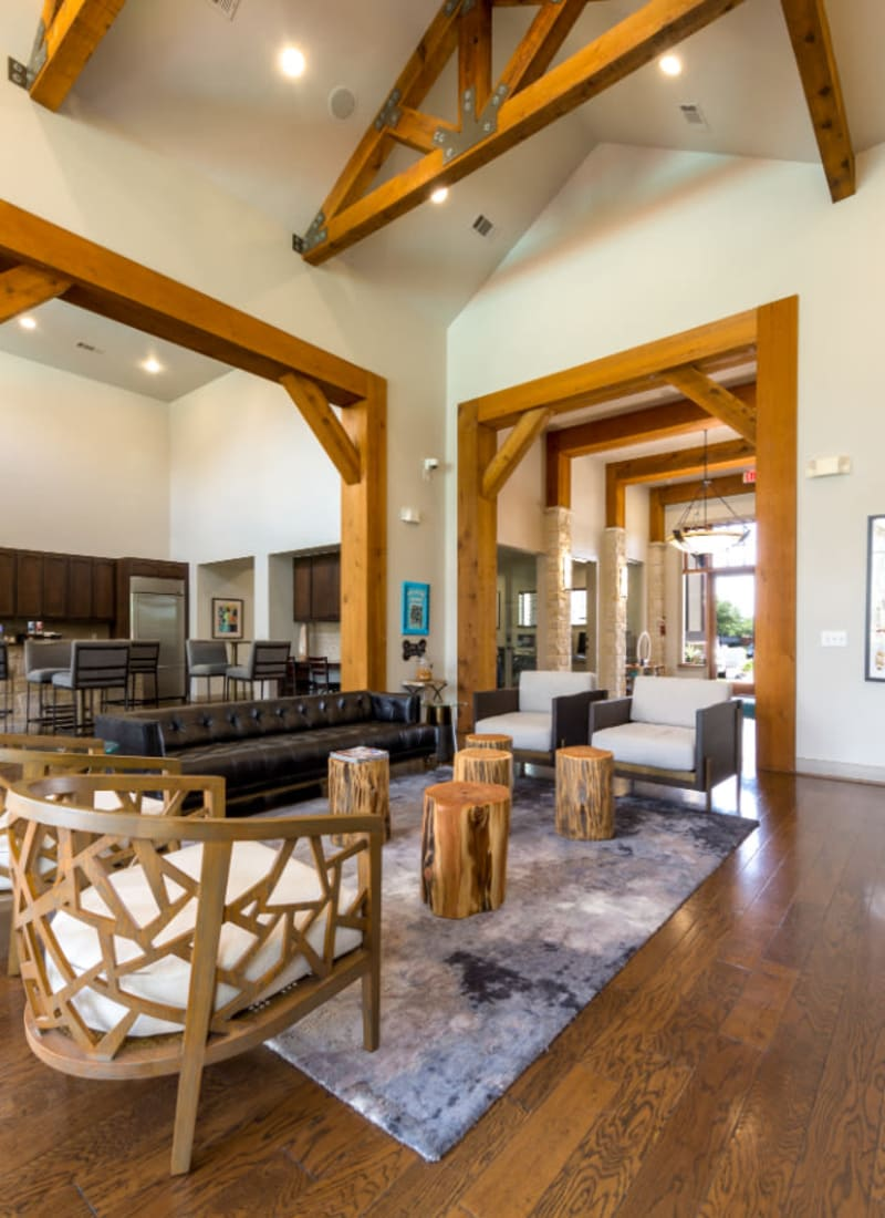 Office lounge at Marquis at Sugar Land in Sugar Land, Texas