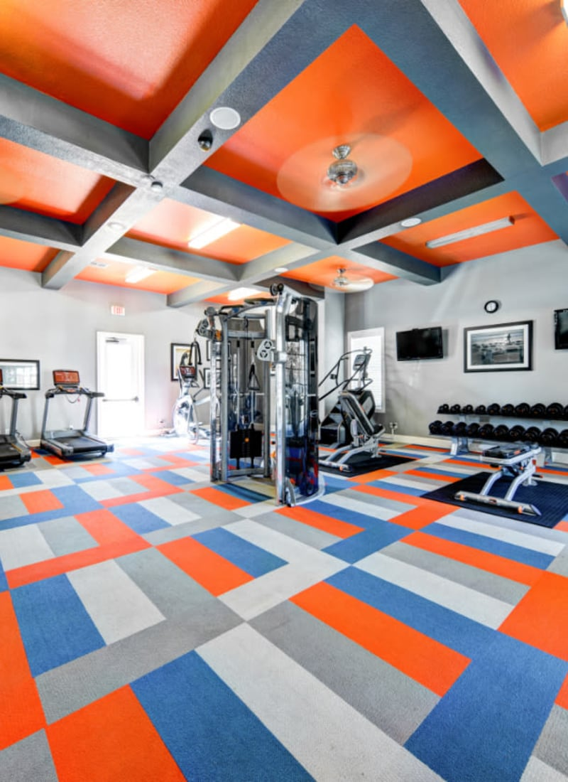 Community fitness center at Marquis at Silver Oaks in Grapevine, Texas