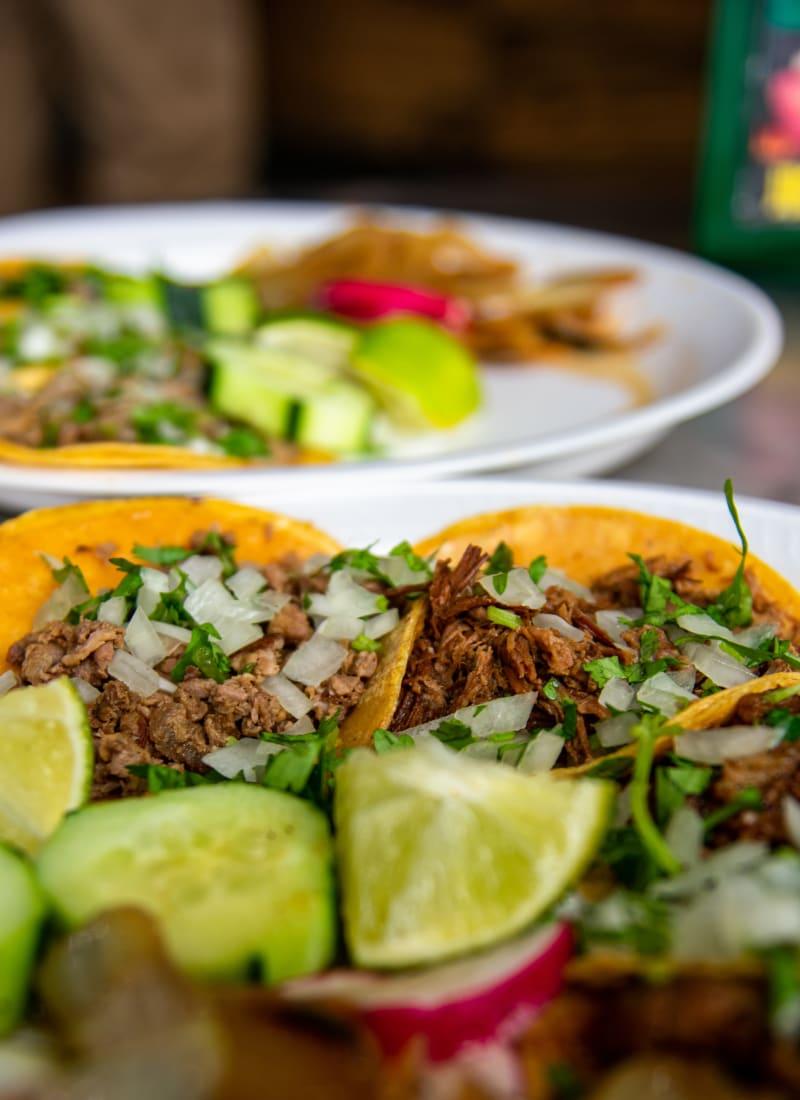 Tacos at Marquis Bandera in San Antonio, Texas
