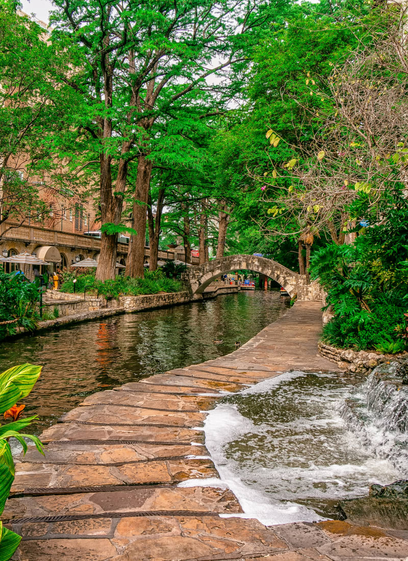 Walking path in San Antonio, Texas near Marquis Bandera