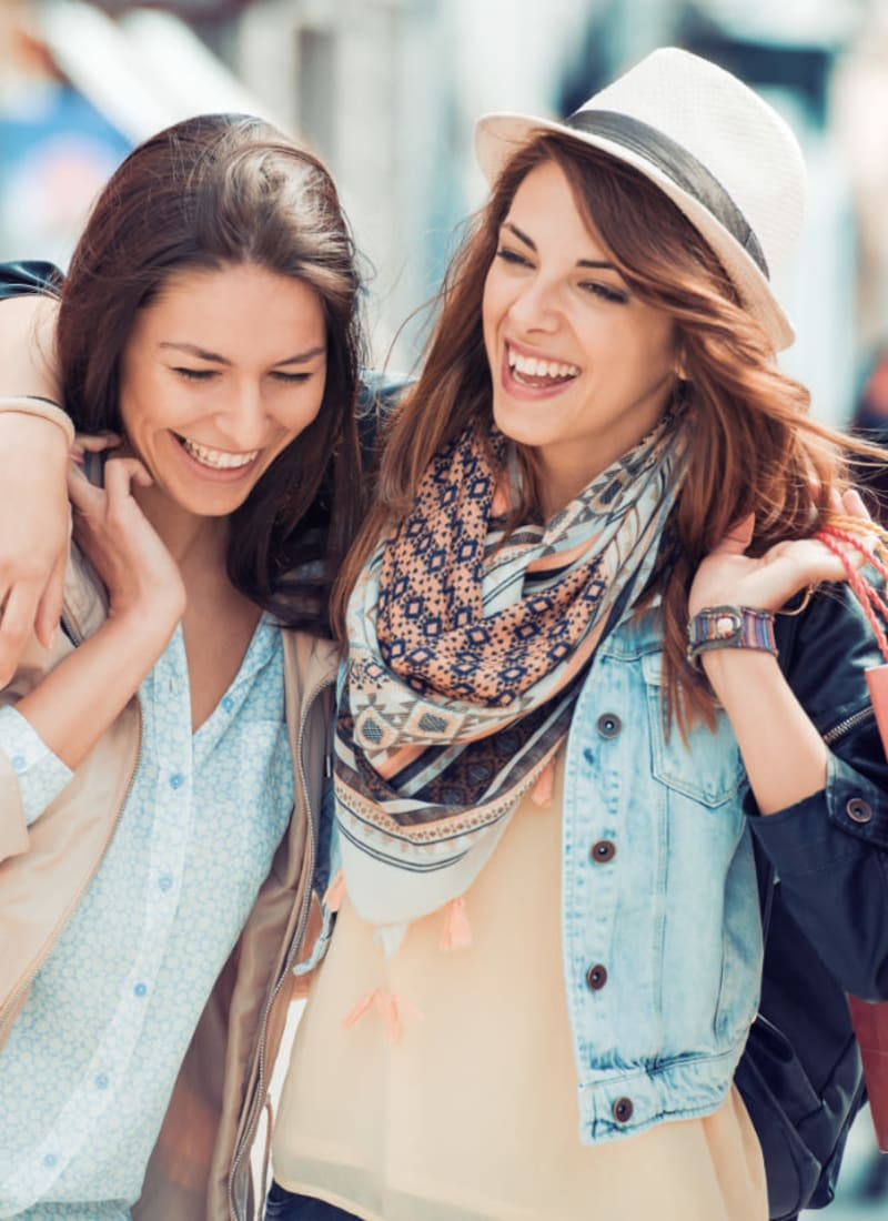 Friends shopping in Folsom, California near The Fairmont at Willow Creek