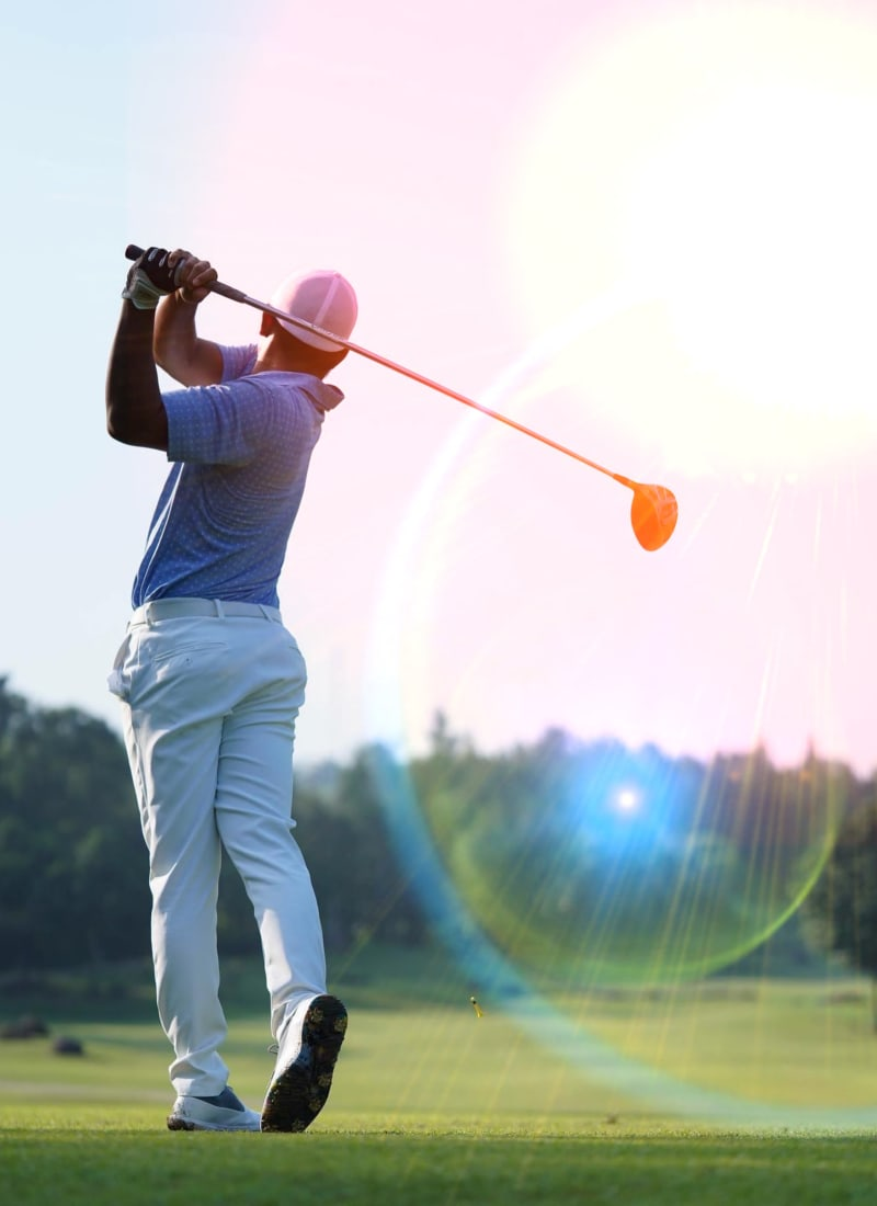 Resident golfing near Marquis at Crown Ridge in San Antonio, Texas