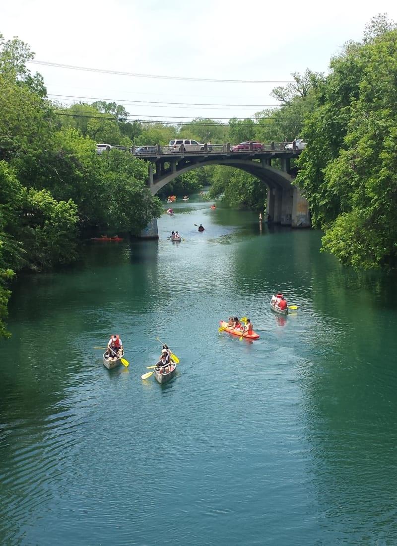 River near Marquis on Lakeline in Cedar Park, Texas