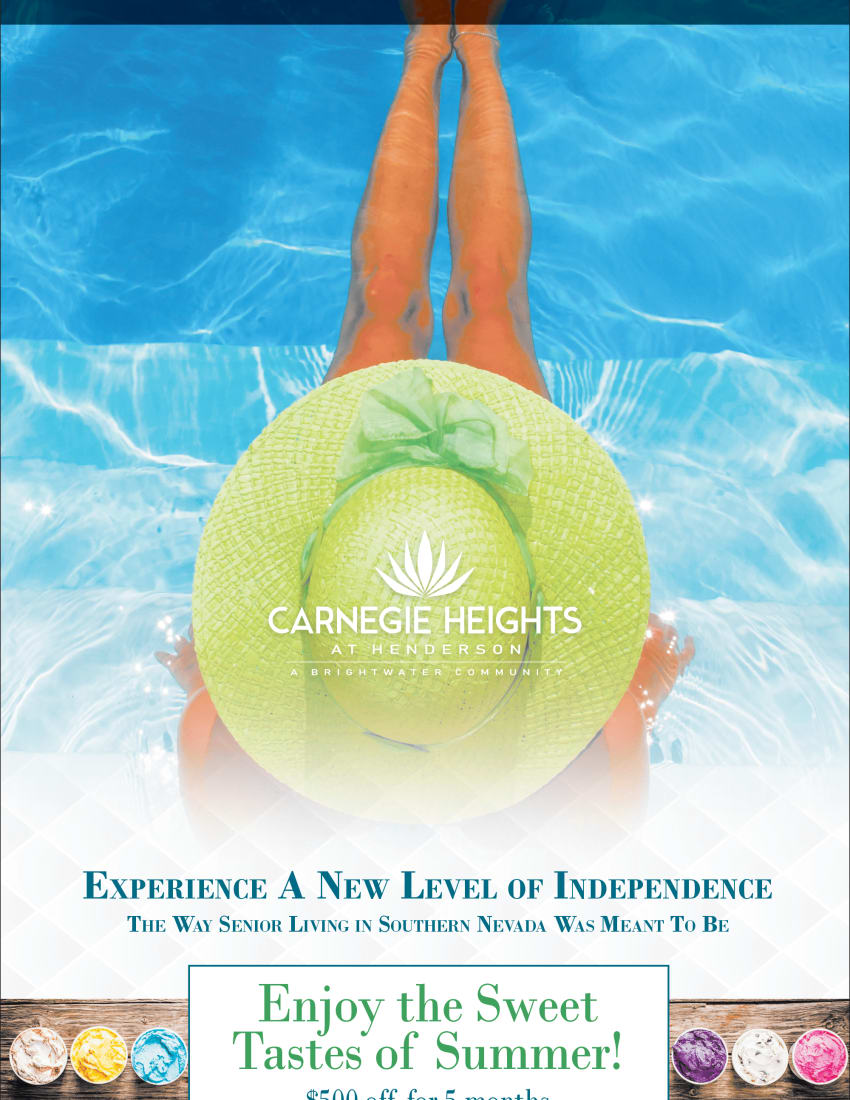 Summer Ad flyer for Carnegie Heights at Henderson