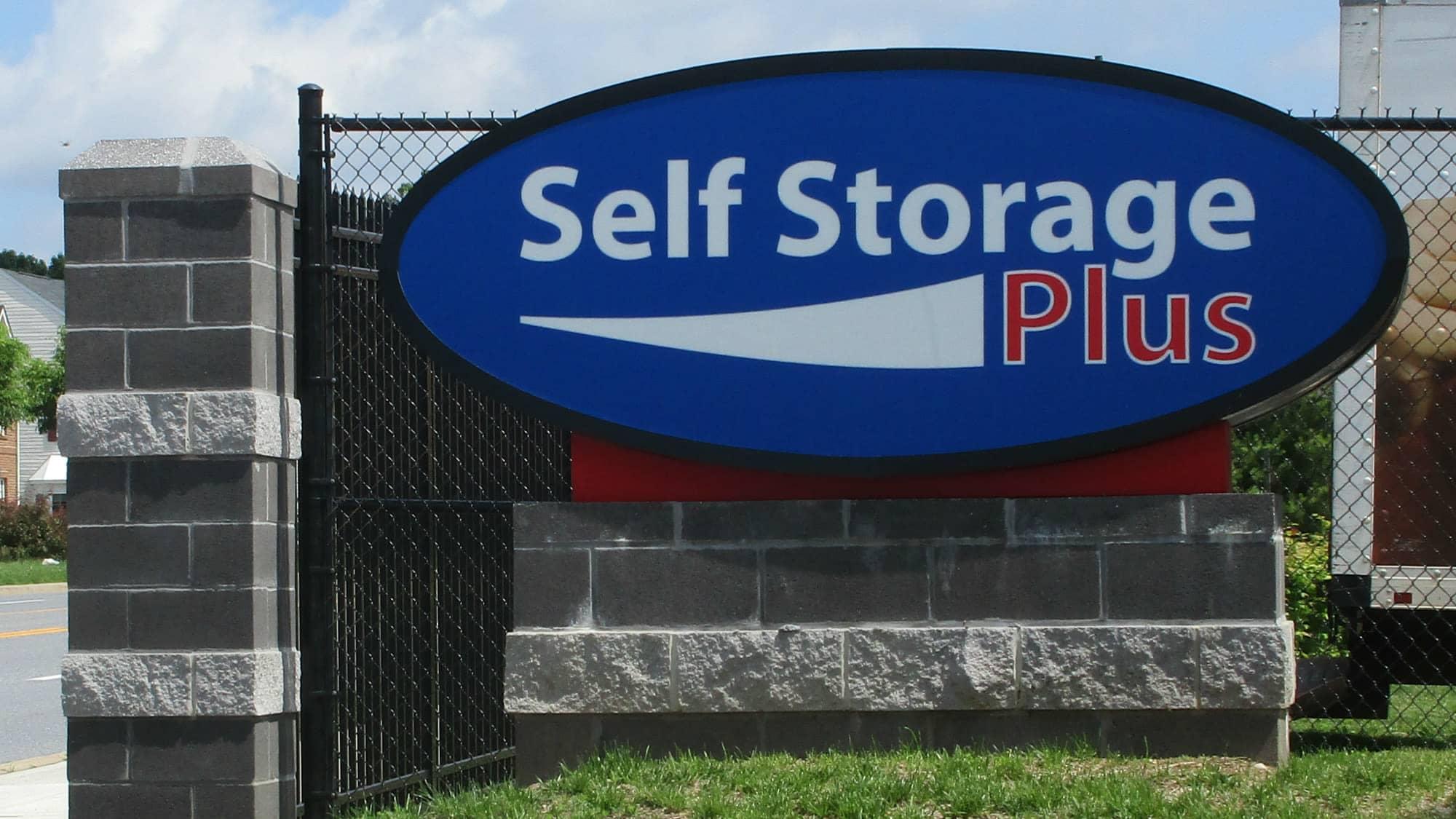 Self Storage Plus welcome sign in Owings Mills