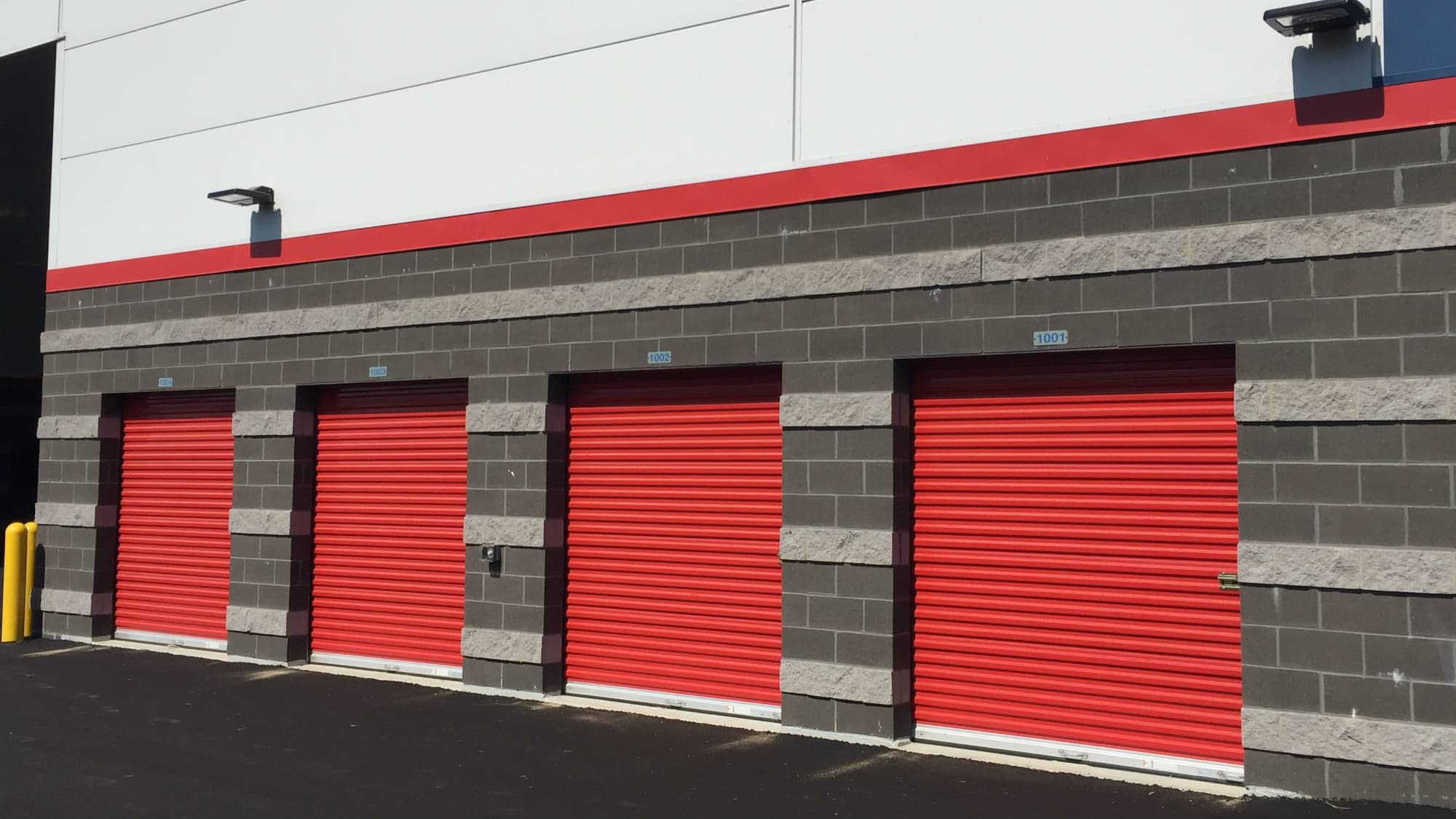 Drive up units at Self Storage Plus in Cockeysville, Maryland