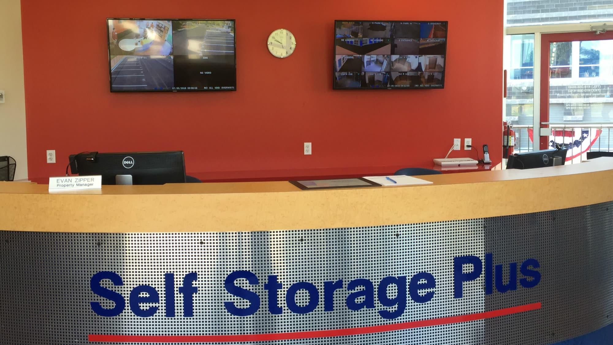 Self Storage Plus reception desk