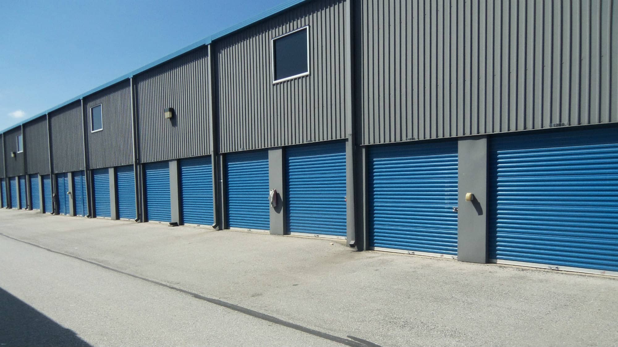 Drive-up units at Self Storage Plus in Baltimore, MD