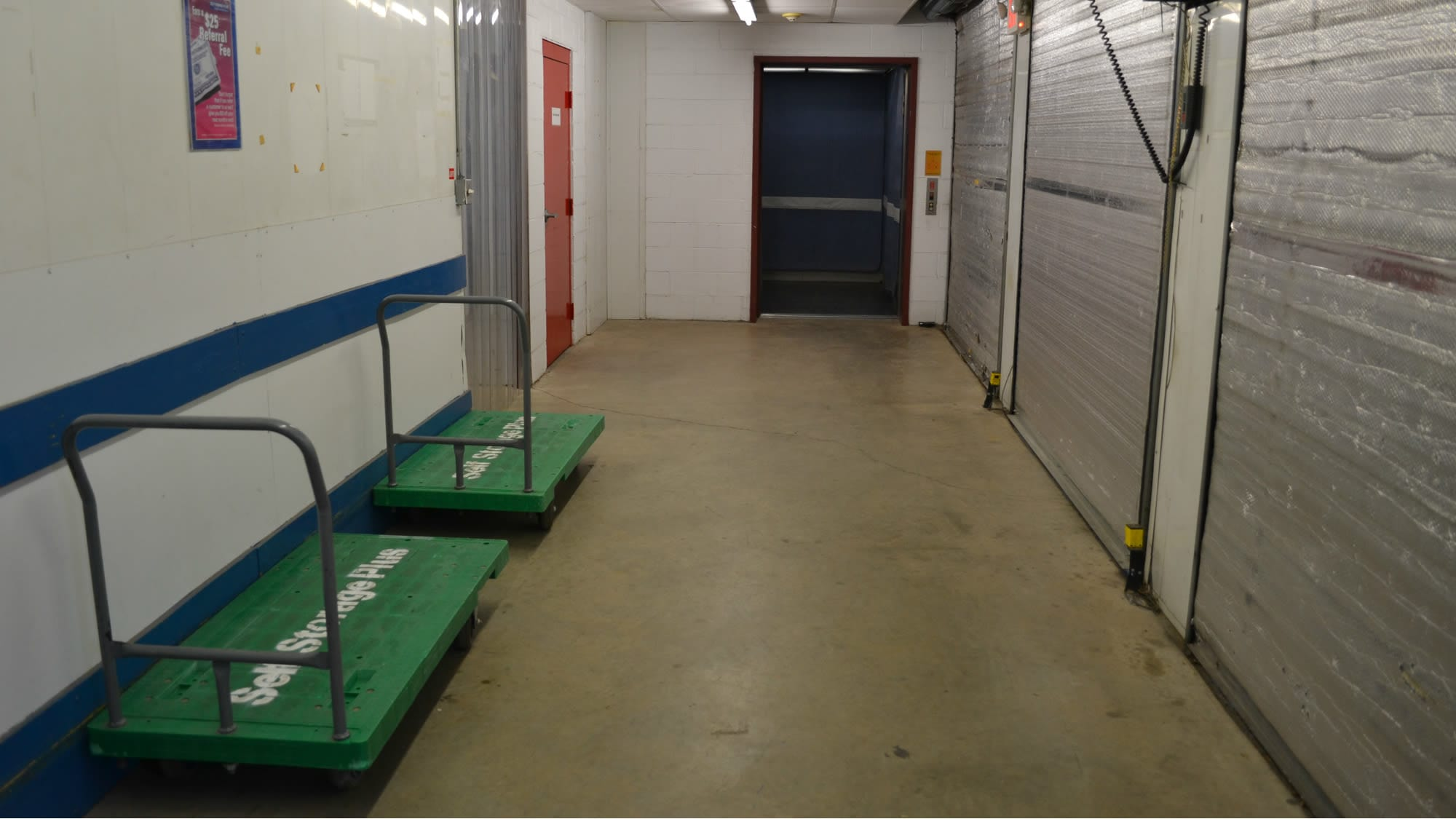 Carts available at Self Storage Plus in Baltimore, MD