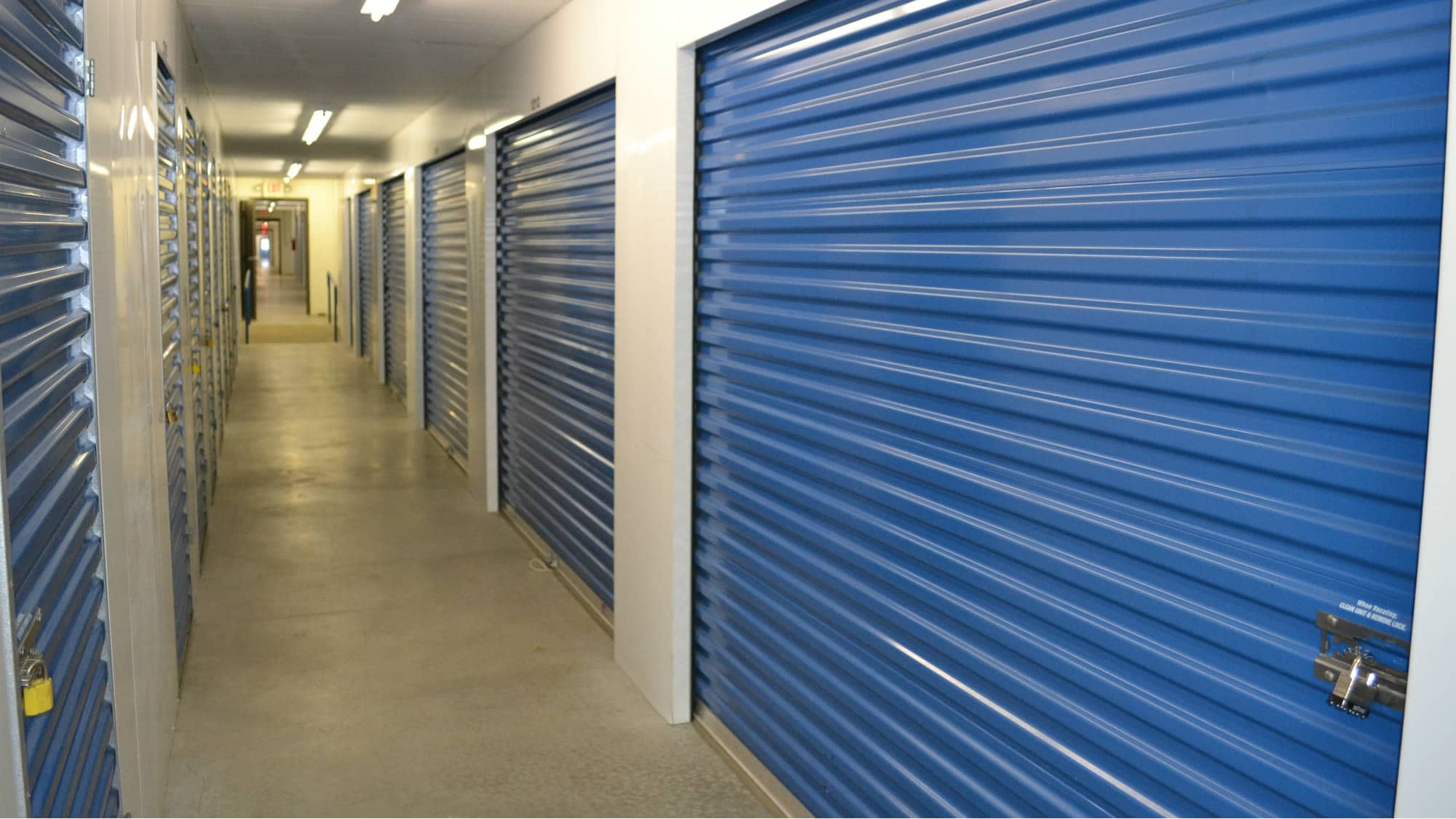 Interior units at Self Storage Plus in Baltimore, MD