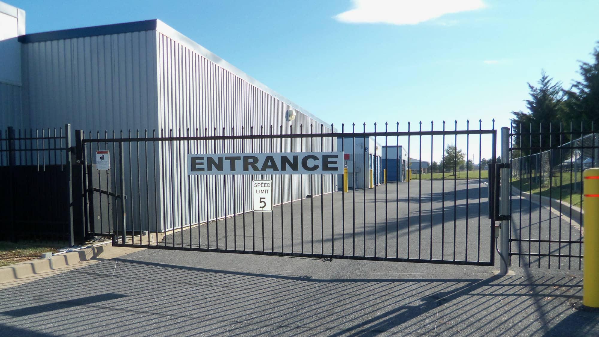 Entrance gate at Self Storage Plus in Walkersville, MD