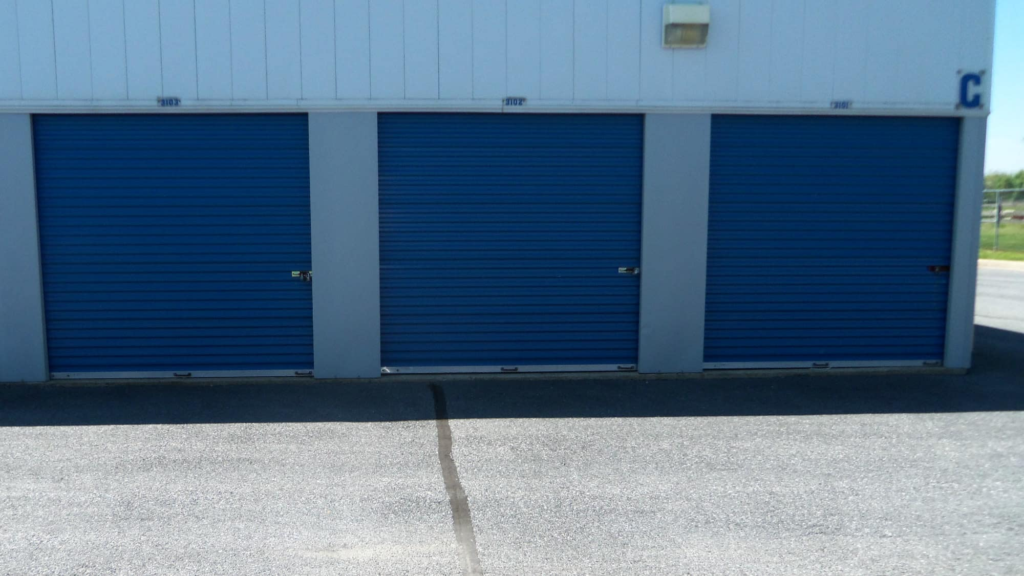 Drive-up units at Self Storage Plus in Walkersville, MD