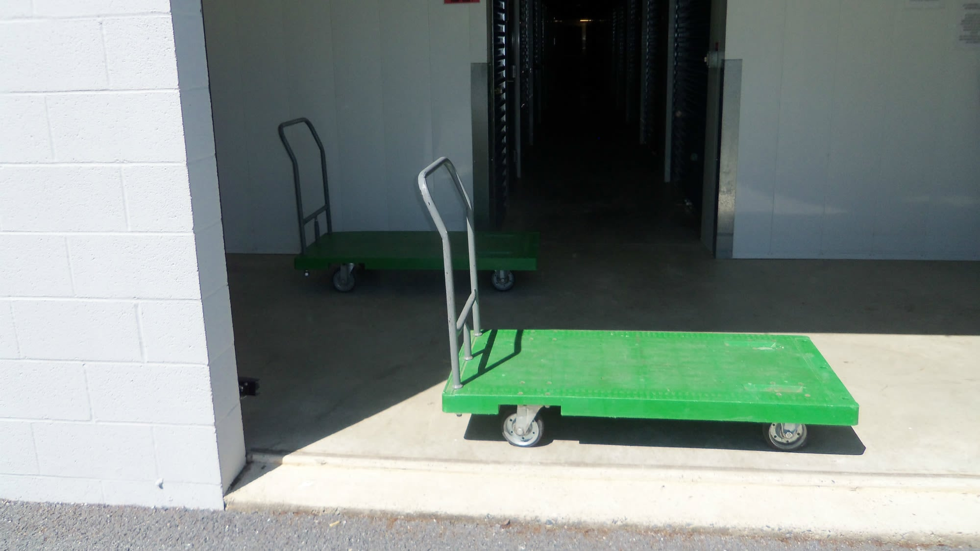 Carts available for use at Self Storage Plus in Walkersville, MD