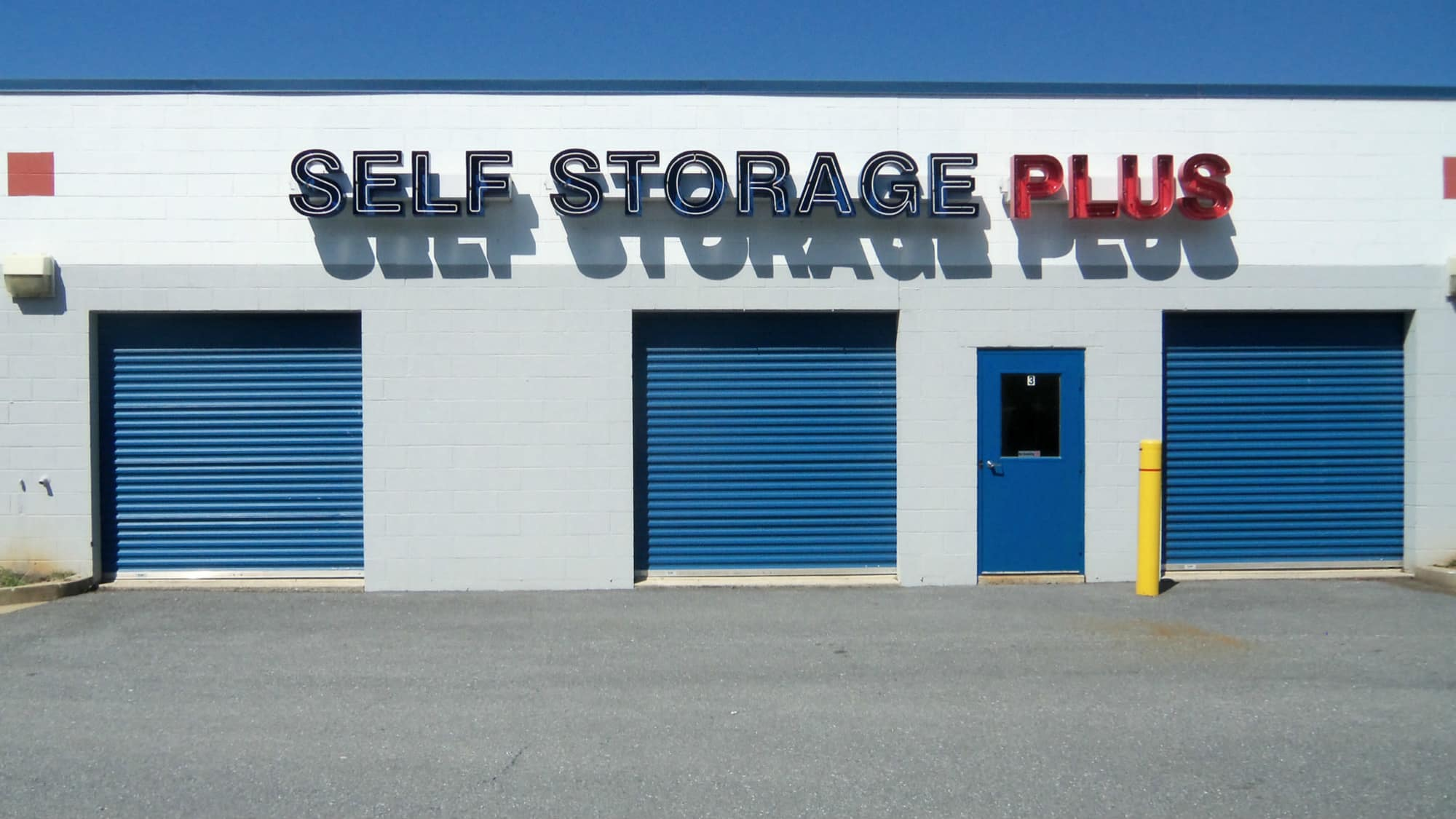 Exterior sign at Self Storage Plus in Walkersville, MD