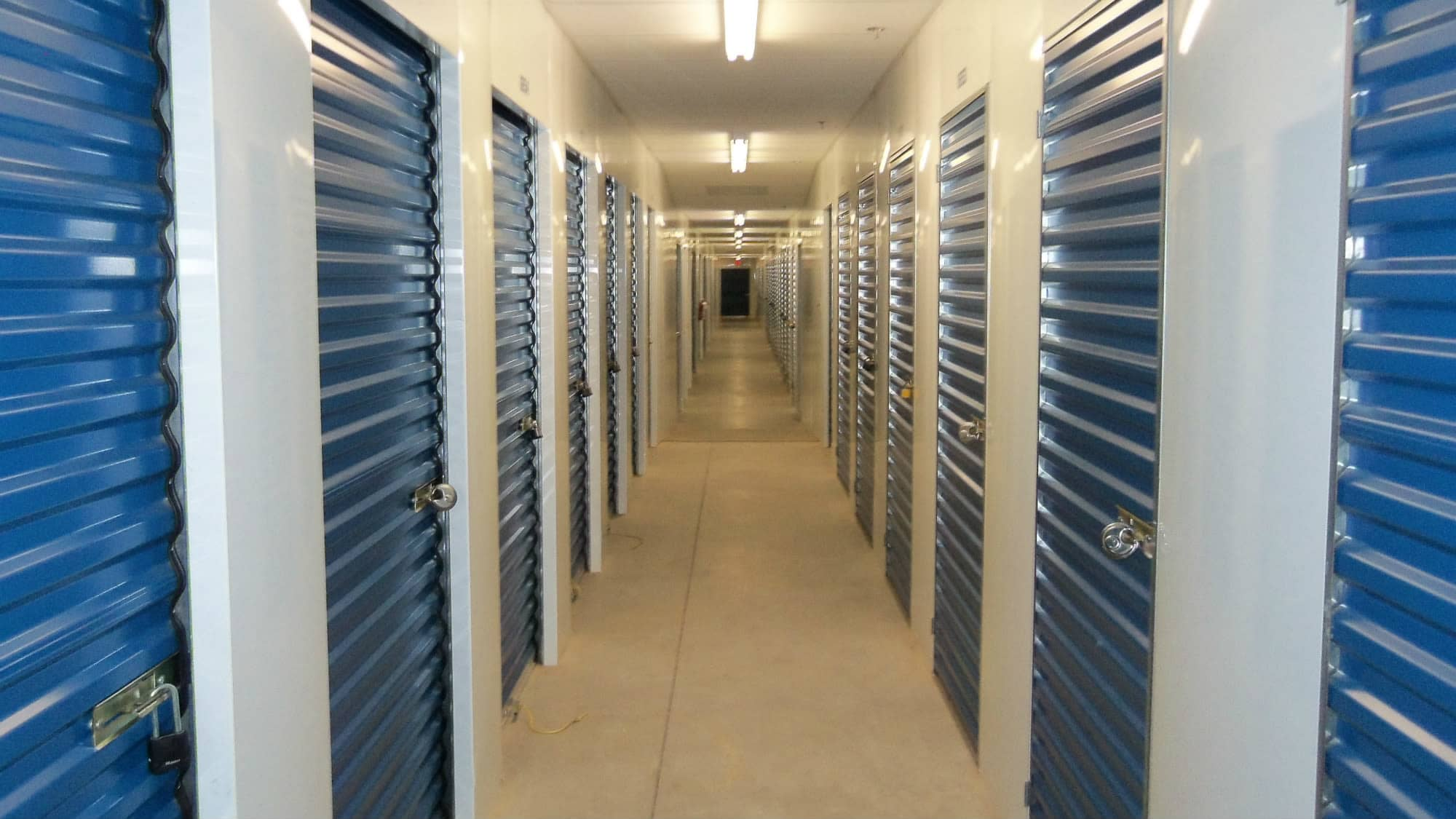Well-lit interiors at Self Storage Plus in Walkersville, MD
