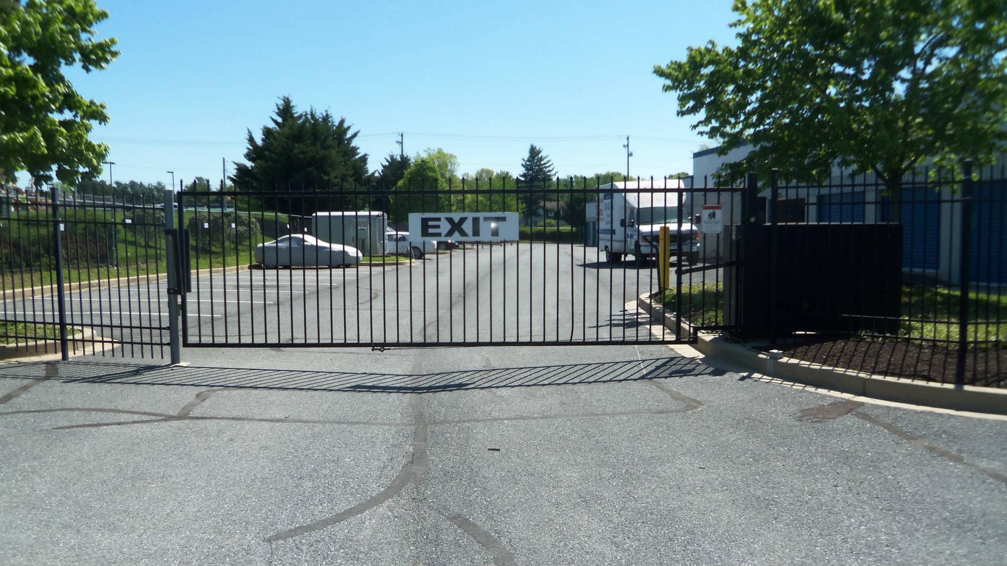 Exit gate at Self Storage Plus in Walkersville, MD
