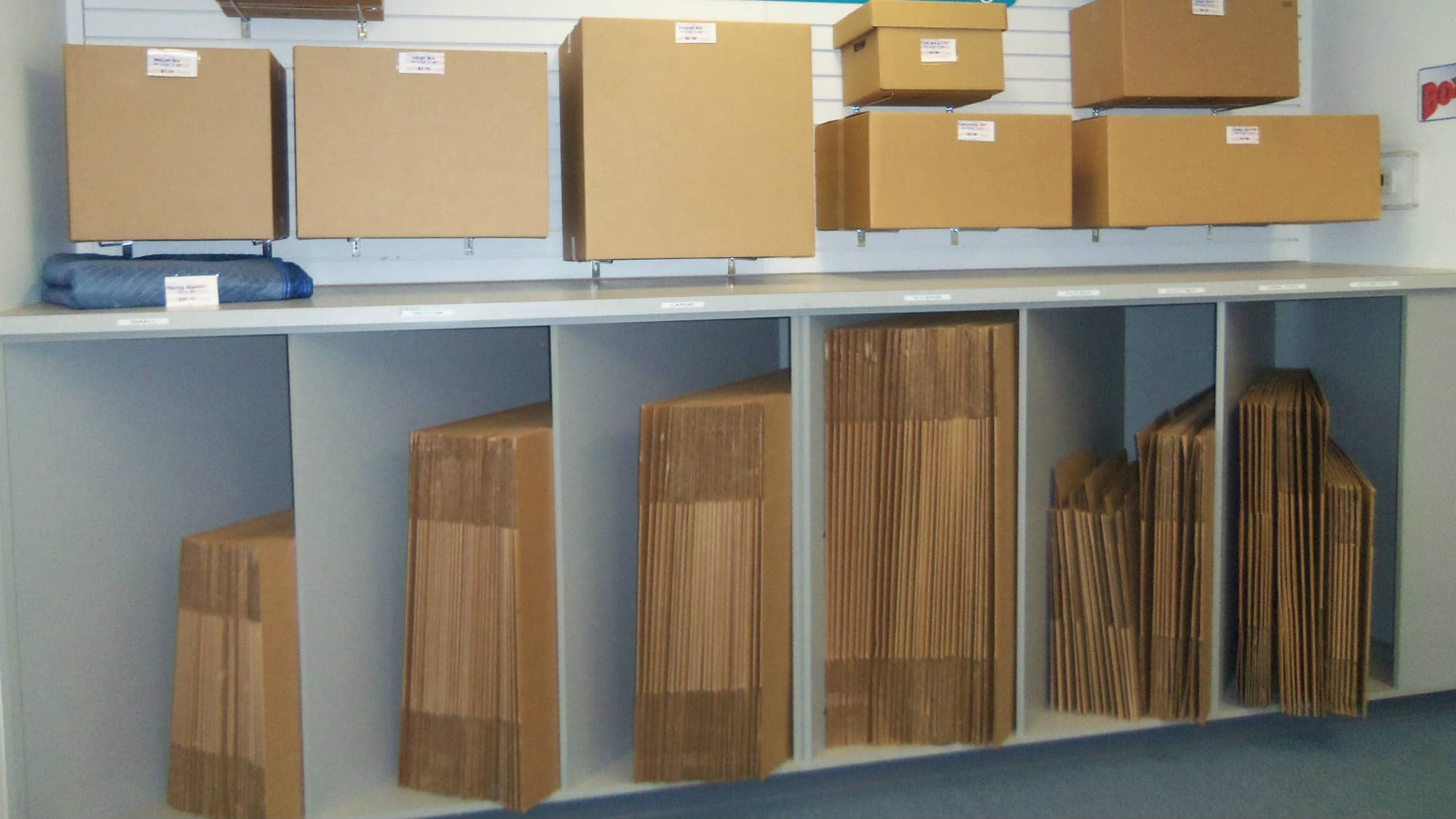 Boxes for sale at Self Storage Plus in Walkersville, MD