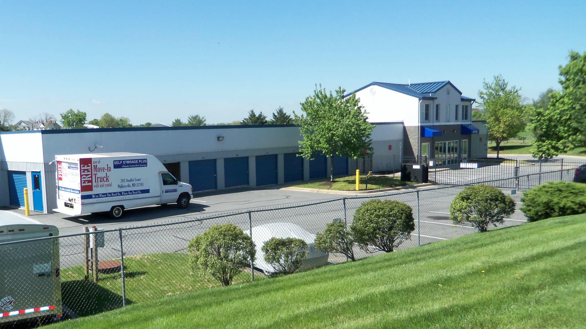 Exterior view of Self Storage Plus in Walkersville, MD